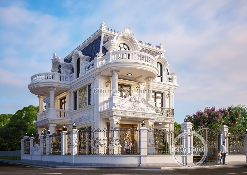 mẫu biệt thự đẹp 2 tầng