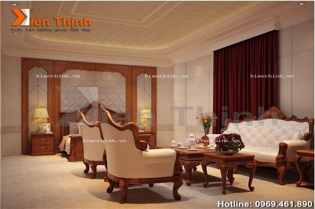 thiết kế nội thất của biệt thự 2 tầng kiểu Pháp 02