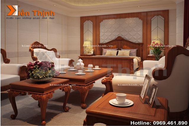 thiết kế nội thất của biệt thự 2 tầng kiểu Pháp 03