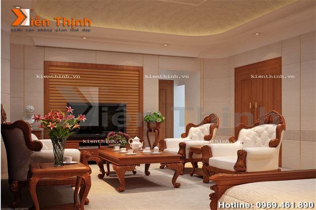 thiết kế nội thất của biệt thự 2 tầng kiểu Pháp 05