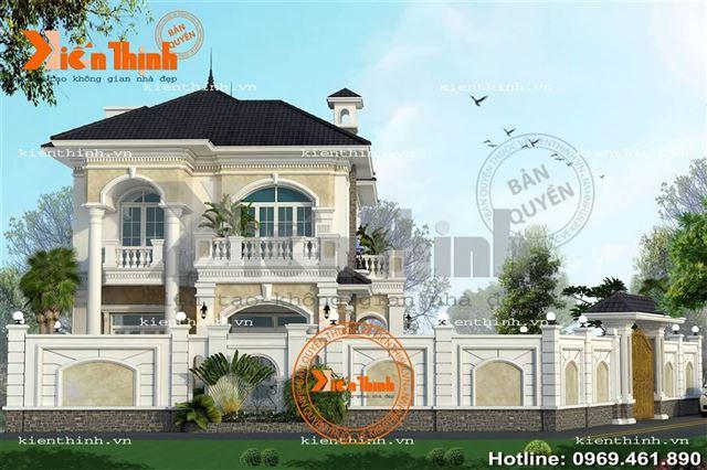 thiet-ke-thi-cong-biet-thu-2-tang-phong-cach-tan-co-dien-chau-Au-dep-o-Quang-Ninh (2)