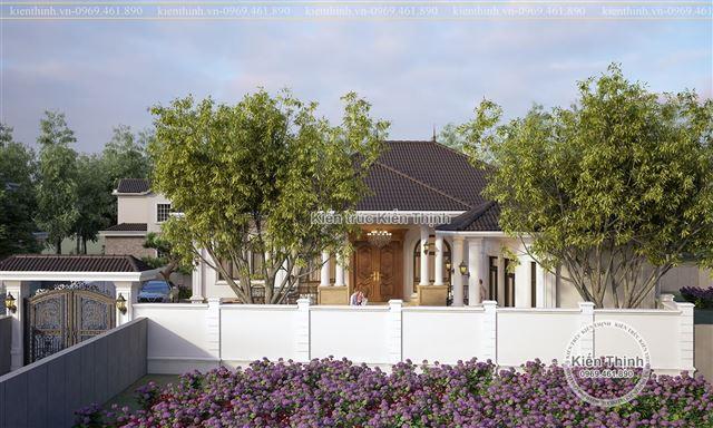 Thiết kế biệt thự vườn đẹp theo phong cách tân cổ điển