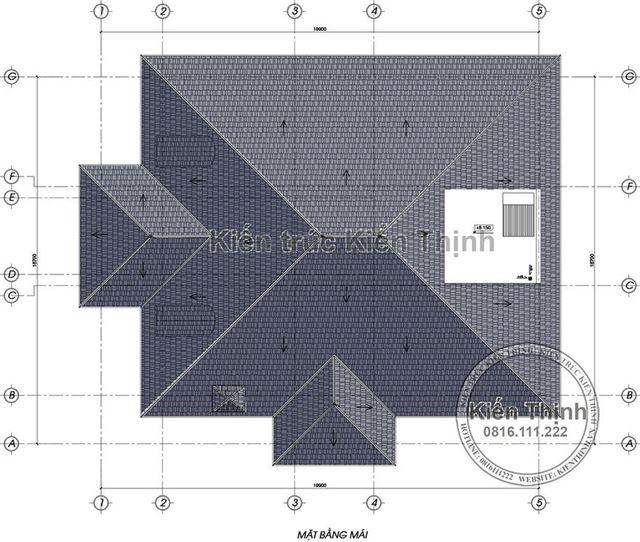 Mặt bằng mái biệt thự 2 tầng tại Củ Chi TPHCM