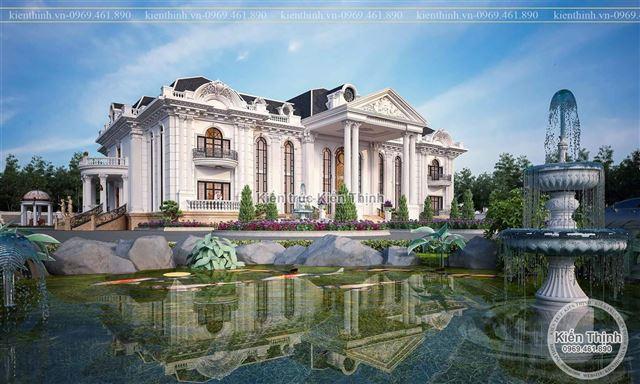 Thiết kế biệt thự 2 tầng theo phong cách tân cổ điển kiểu Pháp