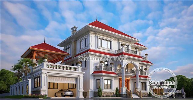 Thiết kế biệt thự 2 tầng phong cách tân cổ điển